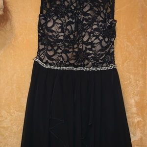 Pretty Sparkly Black Gown. Fancy Dinner Dress.